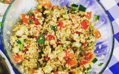 Quinoa Rainbow Salad (serves 2-3)