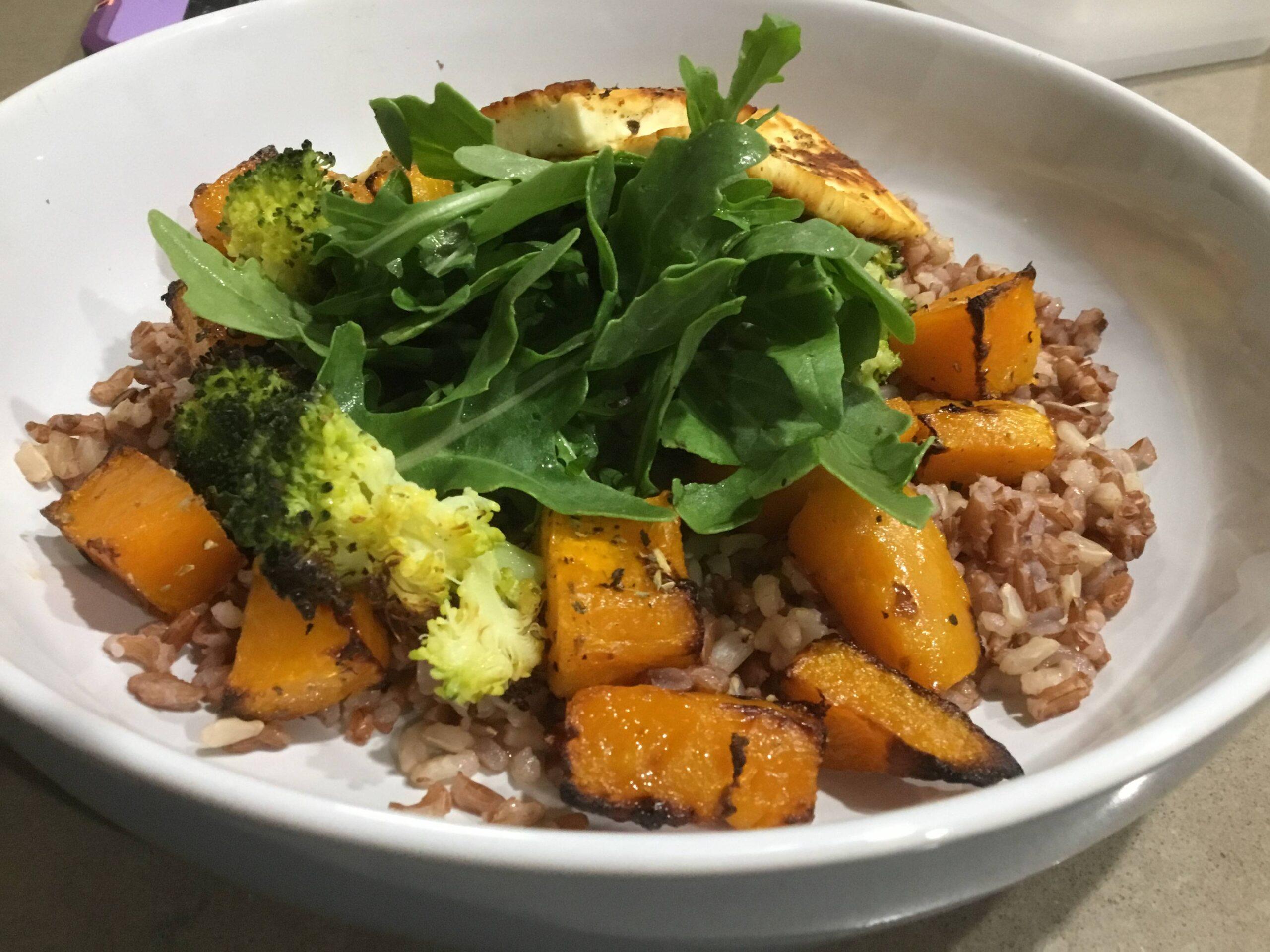 Roast Pumpkin & Broccoli Rice  (serves 2)