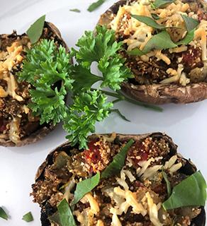 Baked Mushrooms (serves 2)